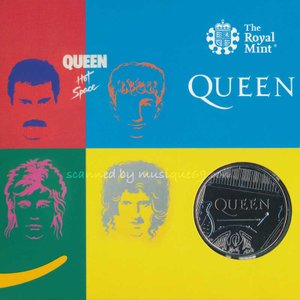 クイーン Queen - Music Legends: Queen £5 Brilliant Uncirculated Coin - Hot Space Limited Edition|musique69