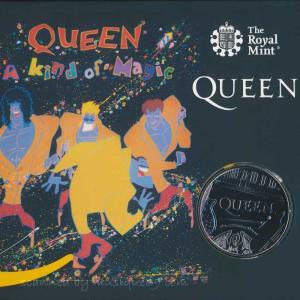 クイーン Queen - Music Legends: Queen £5 Brilliant Uncirculated Coin - A Kind of Magic Limited Edition|musique69