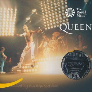 クイーン Queen - Music Legends: Queen £5 Brilliant Uncirculated Coin - Live Limited Edition|musique69