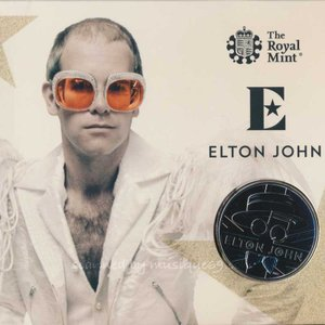 エルトンジョン Elton John - Music Legends: Elton John 2020 UK £5 Brilliant Uncirculated Coin
