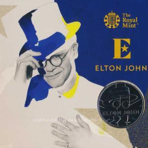 エルトンジョン Elton John - Music Legends: Elton John 2020 UK £5 Brilliant Uncirculated Coin