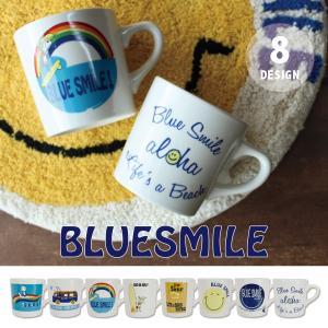 BLUE SMILEマグ グラス コップ 食器 カフェ マリン サーフ 贈り物 ギフト おしゃれ|mustyle-kobe