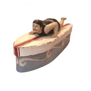 SURFBOARD BOX 小物入れ BOX ボックス ケース アンティーク サーファー 海 夏 マリン mustyle-kobe