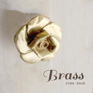 BRASSローズノブ 真鍮 アンティーク DIY インテリア ドアノブ 取っ手 バラ|mustyle-kobe