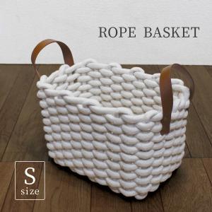 ロープバスケットS バスケット 収納 ボックス 軽量 大容量 ランドリー カゴ 大小|mustyle-kobe