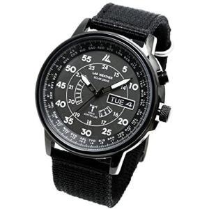ラドウェザー 電波ソーラー腕時計 メンズ 100m防水 腕時計 lad017 (フルブラック) musubi-syop