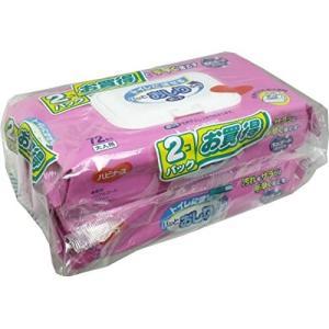 ハビナース トイレに流せるパッとおしりふき 72枚入×2個パック×4セット|musubi-syop