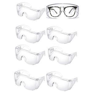 8個入 ゴーグル 保護メガネ 透明 耐衝撃性 曇り止め 保護用アイゴーグル 防塵ゴーグル|musubi-syop