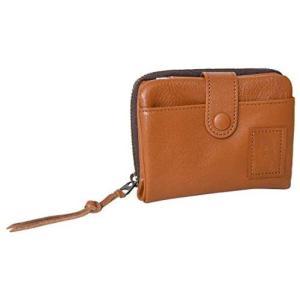 (モズ)86050 本革 二つ折り 短財布 型押し 素押し スウェーデン エルク ヘラジカ レディース キャメル (キャメル) musubi-syop