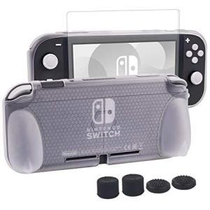 Nintendo switch liteカバー スイッチライト 任天堂 ケース Nintendo TPU素材 一体式 全面保護 耐衝撃 (クリア) musubi-syop