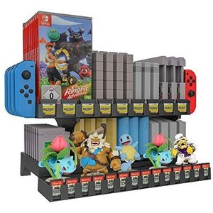 Uniraku 多機能収納とディスプレイスタンド Switchゲームカード 14枚、Switch ゲームディスク9枚、JOY-CON musubi-syop
