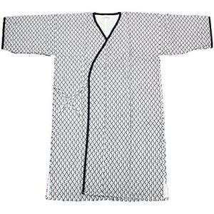 ガーゼ寝巻き 七分袖 七分丈 1枚入 安心安全の日本製 パジャマ、入院、介護用としてお使い頂けます (2460 紳士用) (紳士用)|musubi-syop
