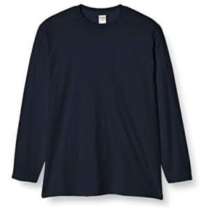 プリントスター長袖 5.6オンス ロングスリーブ Tシャツ(リブ無) メンズ 00101-LVC (ネイビー L)|musubi-syop