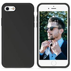 OTOFLY iPhone SE ケース第2世代], iPhone 7 ケース, iPhone 8 ケース ソフト タッチ (ブラック)|musubi-syop