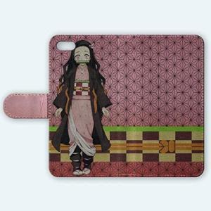 スマートフォン スマホ iPhone アイフォン SE2(第2世代)/8/7 手帳型 ケース カバー 『竈門禰豆子』 003A|musubi-syop
