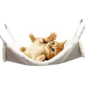 ZAIDEA 猫 ハンモック ペット ベッド ねこ ネコ 遊具 ふわふわ 屋内 昼寝 (49×38cm, ホワイト)|musubi-syop