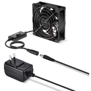 ELUTENG DC 扇風機 8cm ケースファン 3200 / 3600 / 4000 RPM 3段階風量調節 80mm 冷却ファン薄型(8cm)|musubi-syop