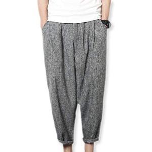 (イーグルハート)クロップド ワイド パンツ ズボン メンズ 薄手 九分丈 カジュアル EH070 ...