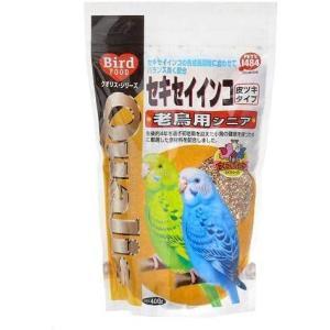 クオリス セキセイインコ老鳥用シニア 400g 鳥 フード 餌 えさ 種 穀類 6袋入り|musubi-syop
