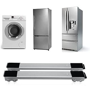 洗濯機 台  冷蔵庫台 キャスター付き 置き台 調整可能 高耐久 静音 移動式 簡易式 TUTUO (グレー) musubi-syop