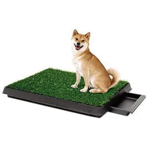 ペットトイレ お掃除簡単ステップトレー ペットマット ペット用おしっこマット 人工芝 トイレマット 人工芝ロール 滑り止めマット 掃除が簡単 速乾|musubi-syop