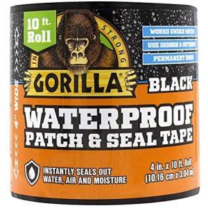 Gorilla (ゴリラ) 防水パッチ & シールテープ (ブラック 1 - Pack)|musubi-syop