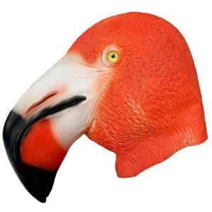 ledmomo ハロウィン コスプレ マスク フラミンゴ 仮面 お面 おもしろ 子供 大人 パーティーグッズ (フラミンゴ 28x45cm)|musubi-syop