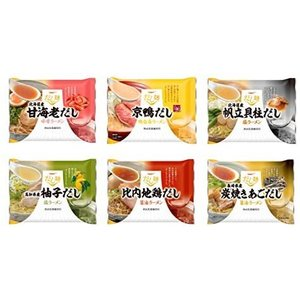 tabete だし麺 人気厳選ラーメン6種類 お試しセット (1セット) (6個 (x 1))|musubi-syop