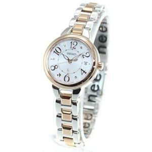 セイコーウォッチ腕時計 ルキア SSVW188 レディース マルチカラー(シルバー+ピンクゴールド) (文字盤:ピンク) musubi-syop