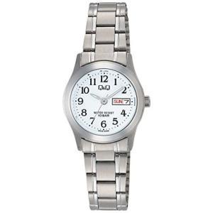 シチズン Q&Q腕時計 アナログ 防水 日付 曜日 メタルバンド W473-204 レディース ホワイト (文字盤色-ホワイト) musubi-syop