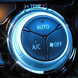 mut-TOYOTA・AQUA アクア専用オートエアコンダイヤルリング(クロームリング)・リングパーツ・DAA-NHP10 H26.12月〜/インテリア 内装