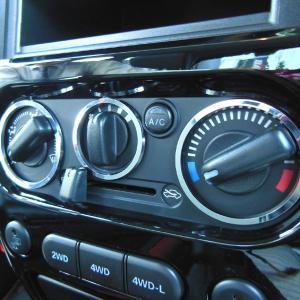 SUZUKI Jimny ジムニー専用マニュアルエアコンダイヤルリング(クロームリング) 3pcs リングパーツ・ABA-JB23W  H20.6月〜/インテリア/DMMC