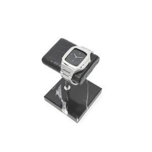 大理石ウオッチスタンド カラー:ブラック WRS-001BK|muta-factory