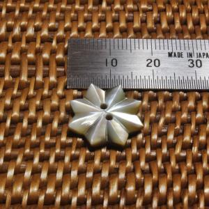 貝ボタン バリ島雑貨 星型/2穴/φ17mm/t2mm 1個入|mutasan|02