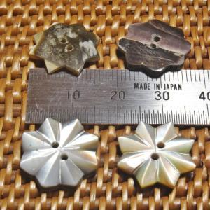 貝ボタン バリ島雑貨 星型/2穴/φ17mm/t2mm 1個入|mutasan|03