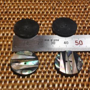 貝ボタン バリ島雑貨 丸型縞模様/2穴/φ20mm/t2mm 1個入|mutasan|03