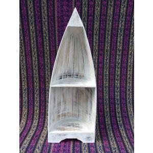 収納家具 2段式ボート型ラック|mutasan