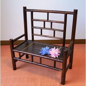 竹製 小型収納家具 椅子型ラック ベトナムのバンブー|mutasan