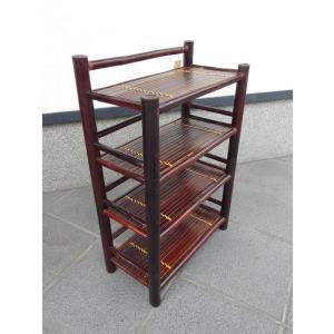 竹製 小型収納家具 3段式ラック ベトナムのバンブー mutasan 02