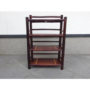 竹製 小型収納家具 3段式ラック ベトナムのバンブー mutasan 04