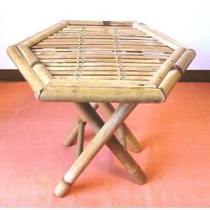 竹製小型収納家具 折畳み式ラックナチュラル ベトナムバンブー|mutasan