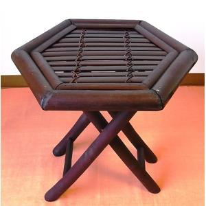 竹製 小型収納家具 折り畳み式ラック茶色 ベトナムのバンブー|mutasan
