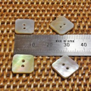ボタン バリ島雑貨 正方形型/2穴/φ15mm/t1.5mm 1個入|mutasan|03