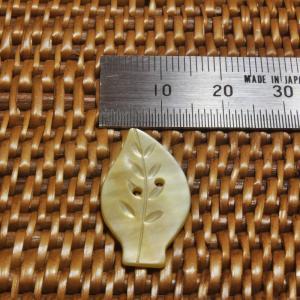 貝ボタン バリ島雑貨 葉っぱ型/2穴/φ26mm/t1.5mm 1個入|mutasan|03