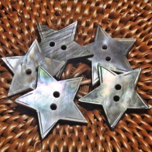 貝ボタン バリ島雑貨 星型/2穴/φ23mm/t1mm 1個入|mutasan