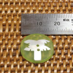 ★クリックポスト送料無料★ 貝ボタン バリ島雑貨 丸樹脂型緑色椰子の木模様/2穴/φ17mm/t2mm 1個入 |mutasan|02