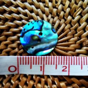 貝ボタン バリ島雑貨 丸型青縞模様/2穴/φ15mm/t1mm 1個入|mutasan|02