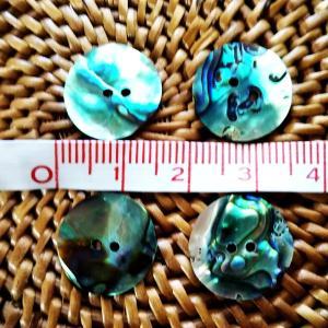 貝ボタン バリ島雑貨 丸型青縞模様/2穴/φ15mm/t1mm 1個入|mutasan|03