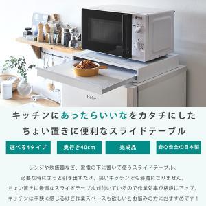 ポイント最大27倍 キッチンスライドテーブルYX B(電子レンジ用/45×40cm) |mutow|02