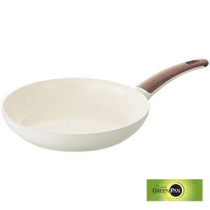 8%OFF対象商品!フライパン グリーンパン GREENPAN ウッドビー フライパン(アルミ) 28cm フライパン WOOD-BE|mutow